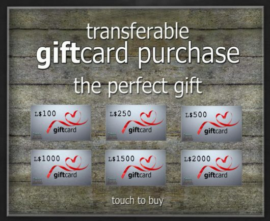 -Hanaya- Gift Card Denominations