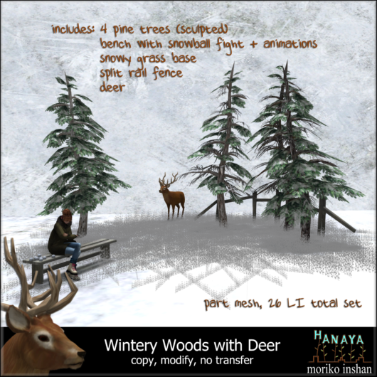 -Hanaya- Wintery Woods with Deer