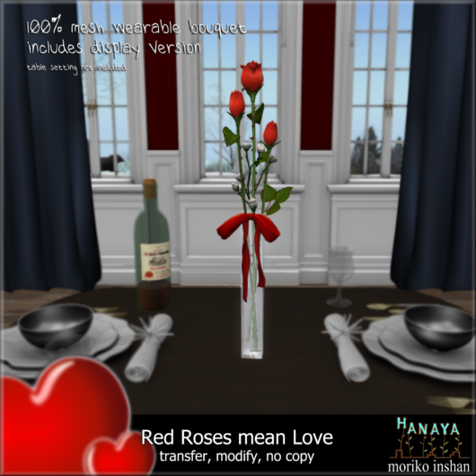 -Hanaya- Red Roses Mean Love