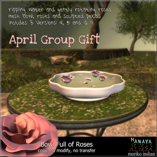 -Hanaya- Bowl Full of Roses GROUP GIFT