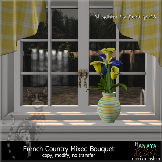 -Hanaya- French Country Mixed Bouquet