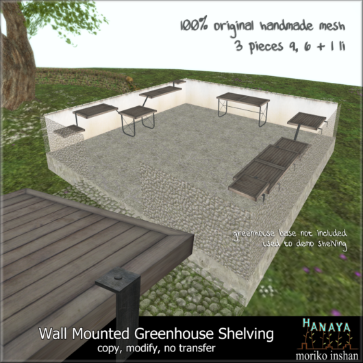 -Hanaya- Wall Mounted Greenhouse Shelving