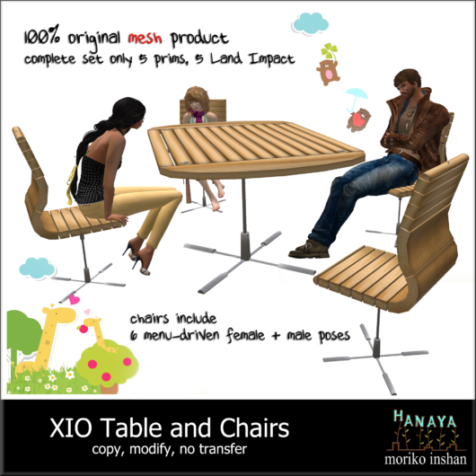 -Hanaya- XIO Table and Chairs