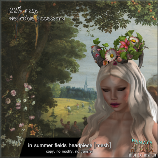 -Hanaya- in summer fields headpiece [mesh]