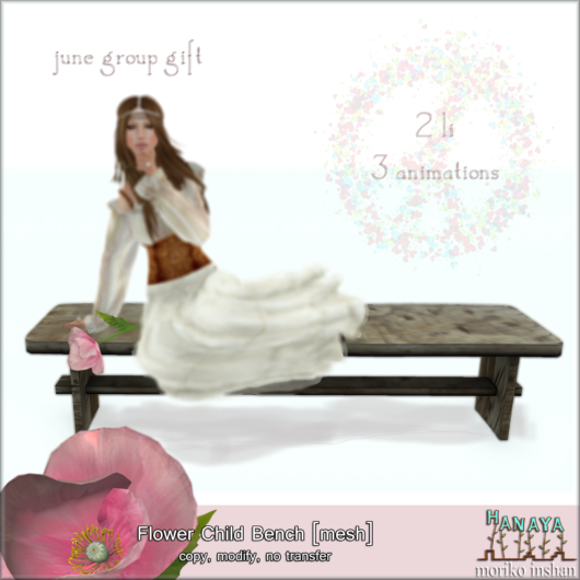 -Hanaya- Flower Child Bench [mesh]