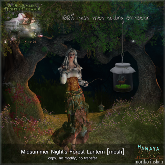 -Hanaya- Midsummer Night's Forest Lantern [mesh] HUNT GIFT Image