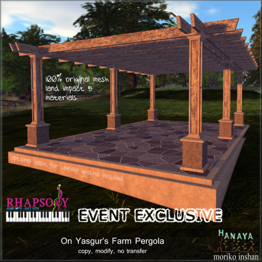 -Hanaya- On Yasgur's Farm Pergola [mesh] with logo