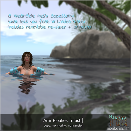 -Hanaya- Arm Floaties [mesh]