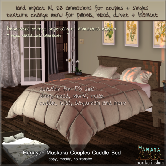 -Hanaya- Muskoka Couples Cuddle Bed
