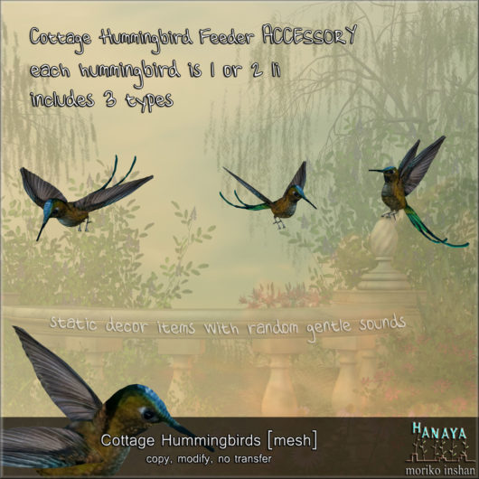 -Hanaya- Cottage Hummingbirds [mesh]