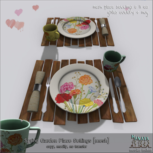 -Hanaya- Spring Garden Place Settings