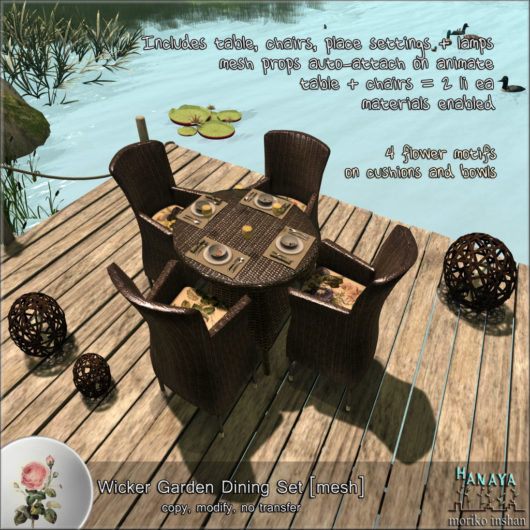 -Hanaya- Wicker Garden Dining Set [mesh]