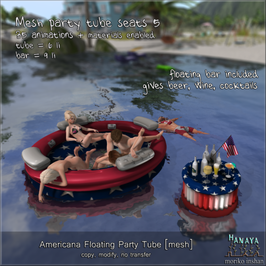 -Hanaya- Americana Floating Party Tube Set