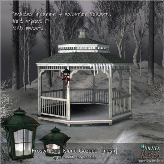 -Hanaya- Frosty Long Island Gazebo [mesh]