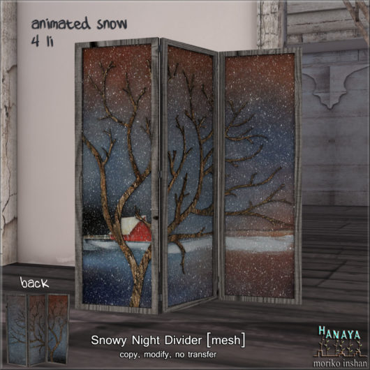 -Hanaya- Snowy Night Divider