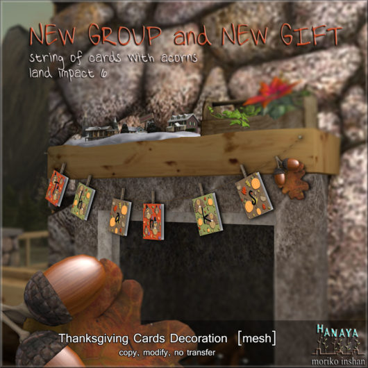 -Hanaya- Thanksgiving Cards Decoration GROUP GIFT