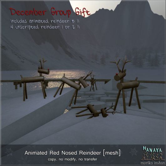 -Hanaya- Animated Red Nosed Reindeer GROUP GIFT