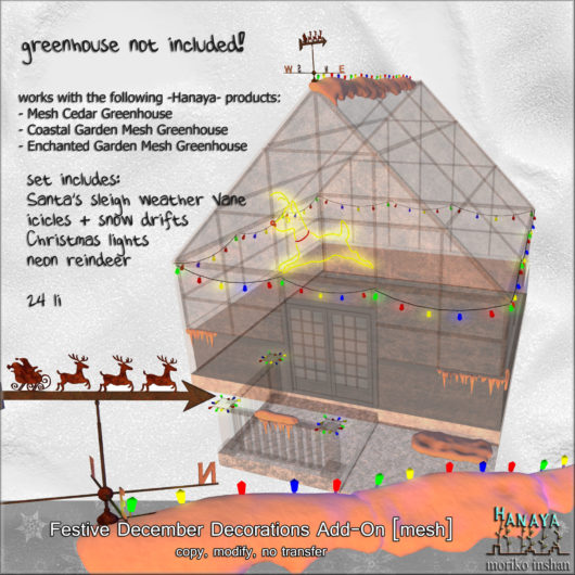 -Hanaya- Festive December Decorations Add-On