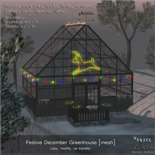 -Hanaya- Festive December Greenhouse