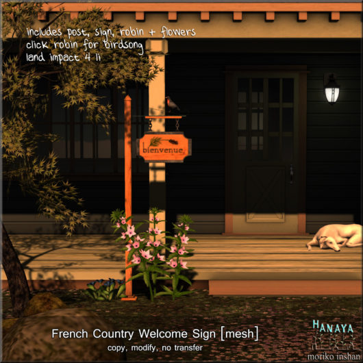 -Hanaya- French Country Welcome Sign [mesh]