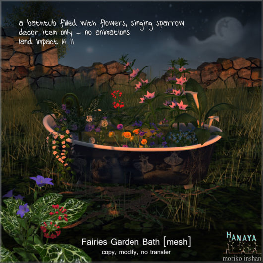 -Hanaya- Fairies Garden Bath [mesh]