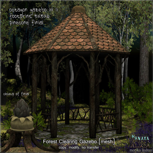 -Hanaya- Forest Clearing Gazebo [mesh]