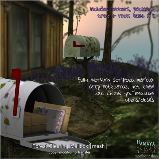 -Hanaya- Forest Clearing Mailbox with Maildrop