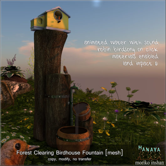 -Hanaya- Forest Clearing Birdhouse Fountain [mesh]